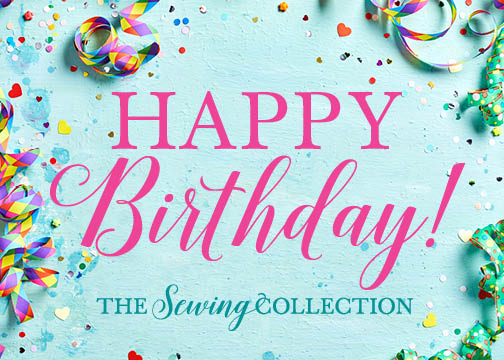 Sewing Collection Gift Card Happy Birthday