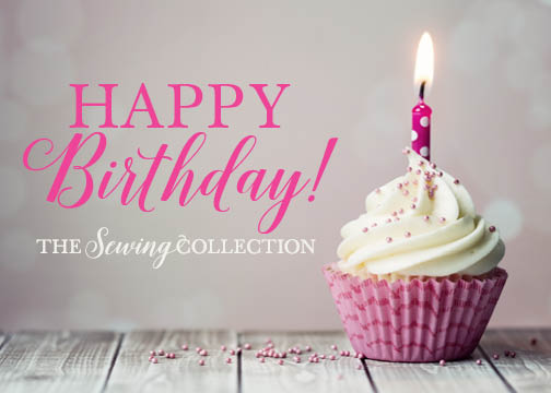 Sewing Collection Gift Card Happy Birthday Cupcake