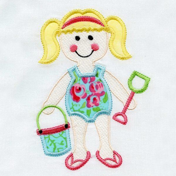 Kids Beach Applique by Kathy Drew